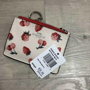 Coach Bags - Coach Skinny ID Case Wallet Coin Cute Fruit Print